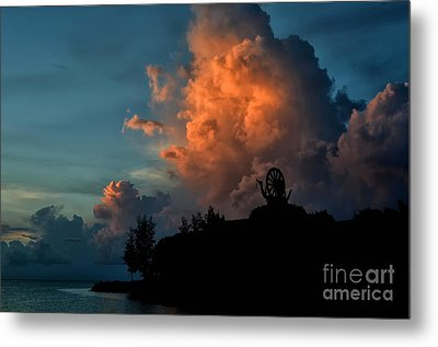 Red Clouds Metal Print