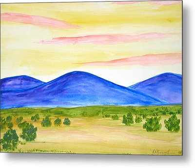 Red Clouds Over Mountains Metal Print