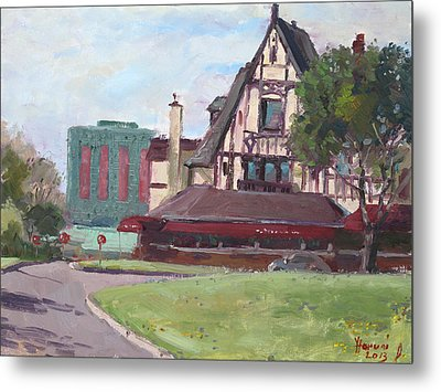 Red Coach Inn-restaurant Metal Print by Ylli Haruni