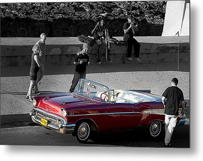 Red Convertible II Metal Print