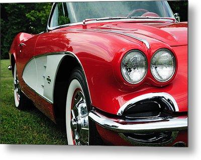 Red Corvette Metal Print by John Kiss