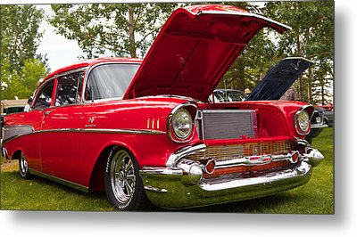 Metal Print featuring the photograph Red Customised Car by Mick Flynn