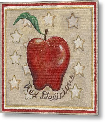 Red Delicious Two Metal Print by Linda Mears