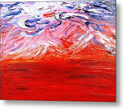 Red Desert Metal Print by Amy Drago