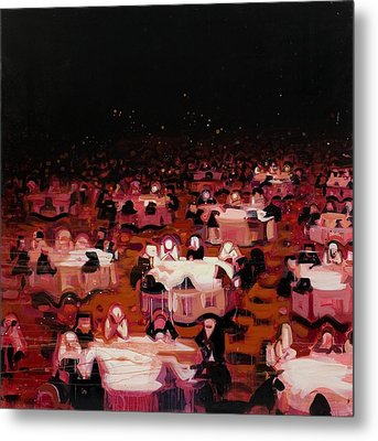 Red Dining Room 9 Metal Print by Susie Hamilton