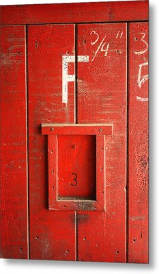 Red Door Metal Print by Bobby Villapando