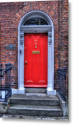 Red Door Dublin Ireland Metal Print by Juli Scalzi