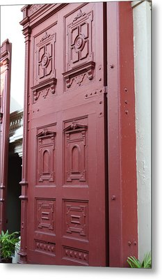 Red Door - Grand Palace In Bangkok Thailand - 01131 Metal Print by DC Photographer
