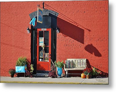 Metal Print featuring the photograph Red Door by Ludwig Keck