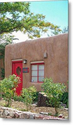 Red Door Metal Print by Sylvia Thornton