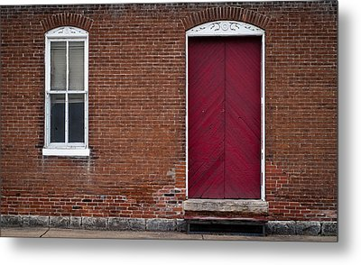 Metal Print featuring the photograph Red Door by Wayne Meyer