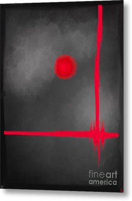 Red Dot Metal Print by Anita Lewis