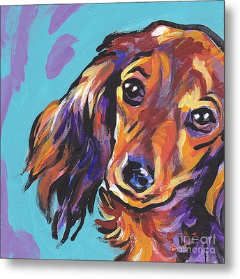 Red Doxie Baby Metal Print by Lea S