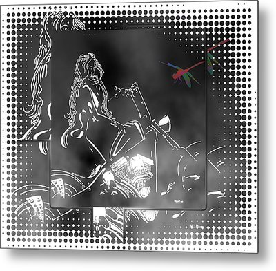 Red Dragonfly Metal Print by Mayhem Mediums
