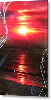 Ocean - ' Red Earth ' Metal Print by Christian Chapman Art