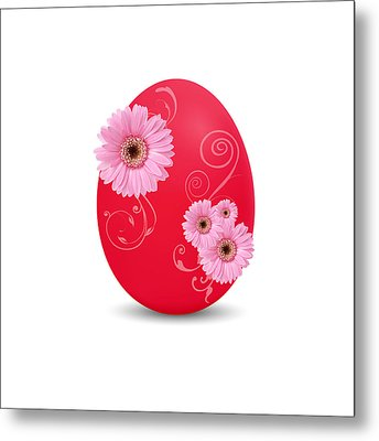 Red Easter Egg Metal Print by Aged Pixel