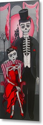 Red Engagement - Frida Y Diego Metal Print
