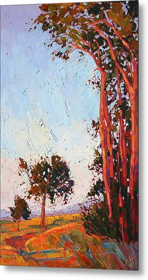 Red Eucalyptus  Metal Print by Erin Hanson
