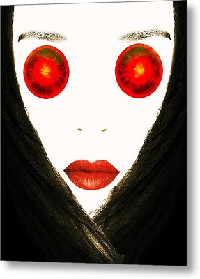 Red Eyes Metal Print by Bruce Iorio