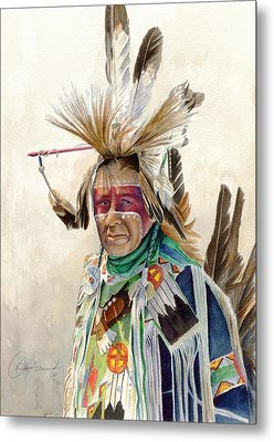 Red Face Paint Metal Print by Don Dane