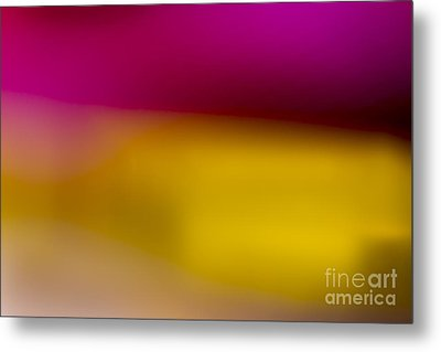 Red Fade To Gold Metal Print