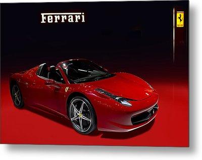 Red Ferrari Convertible Metal Print
