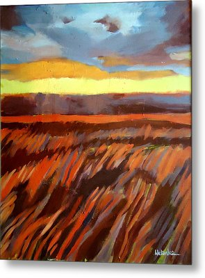 Metal Print featuring the painting Red Field by Helena Wierzbicki