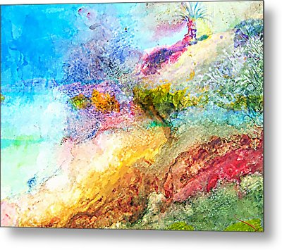 Red Fishes And The Sea Metal Print