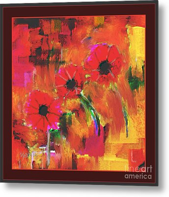 Red Flowers Metal Print by Nedunseralathan R