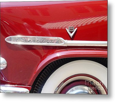 Metal Print featuring the photograph Red Ford Crestline V8 by Ecinja Art Works