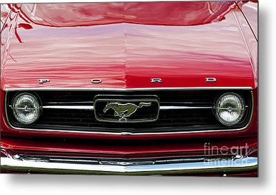 Red Ford Mustang Metal Print