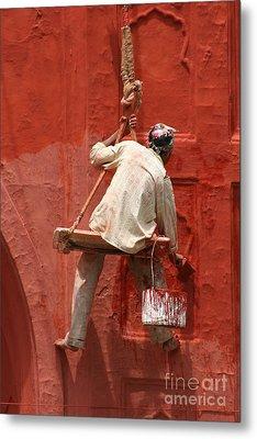 Red Fort Painter Metal Print by Nola Lee Kelsey