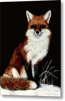 Metal Print featuring the painting Red Fox by DiDi Higginbotham