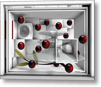 Red Fruits Metal Print by Alberto  RuiZ
