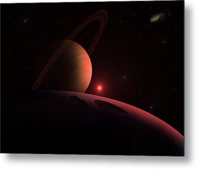 Red Giant Metal Print by Ricky Haug