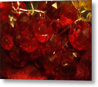 Red Glass Grapes Metal Print