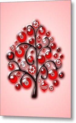Red Glass Ornaments Metal Print by Anastasiya Malakhova