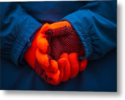 Red Gloves - Featured 3 Metal Print by Alexander Senin