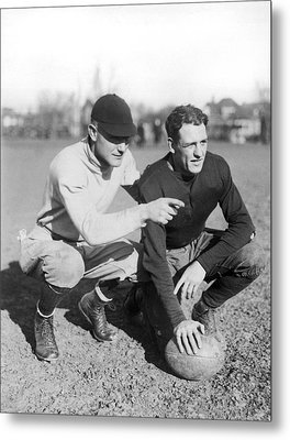 Red Grange And His Coach Metal Print by Underwood Archives
