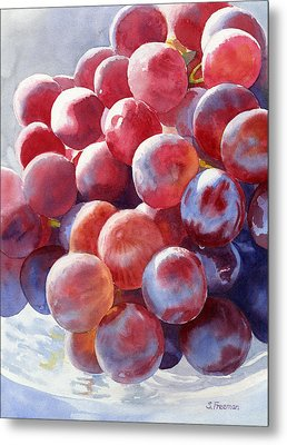 Red Grape Essence Metal Print by Sharon Freeman