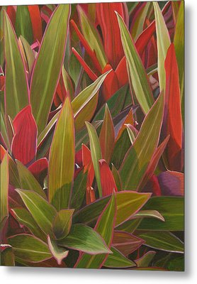 Metal Print featuring the painting Red Green And Purple by Thu Nguyen