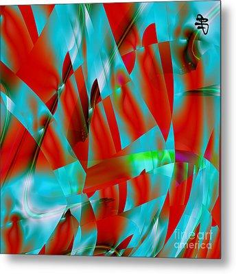 Metal Print featuring the digital art Red by Hai Pham