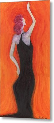 Red Haired Lady Metal Print