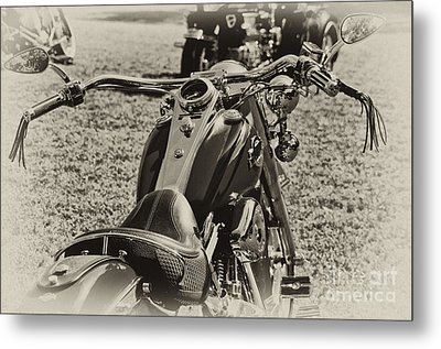 Metal Print featuring the photograph Red Harley Davidson by Wilma  Birdwell