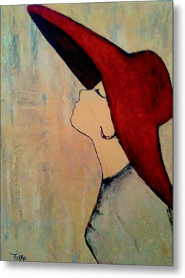 Red Hat Metal Print by Mirko