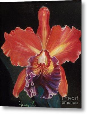 Red Hawaiian Orchid Metal Print
