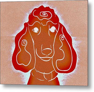 Red Head Metal Print by Ellsbeth Page