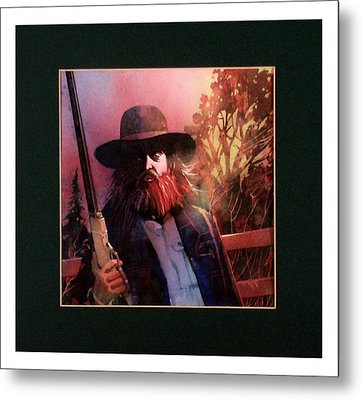 Red Headed Stranger Metal Print