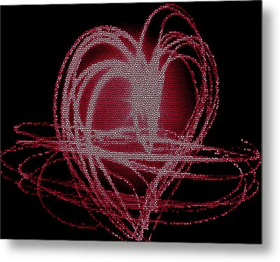 Red Heart Metal Print by Aya Murrells