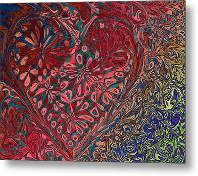 Red Heart Metal Print by David Pantuso